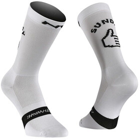Northwave Sunday Monday Cycling Socks white/black
